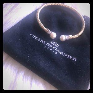 Charles Garnier Cuff Bracelet with pearl.